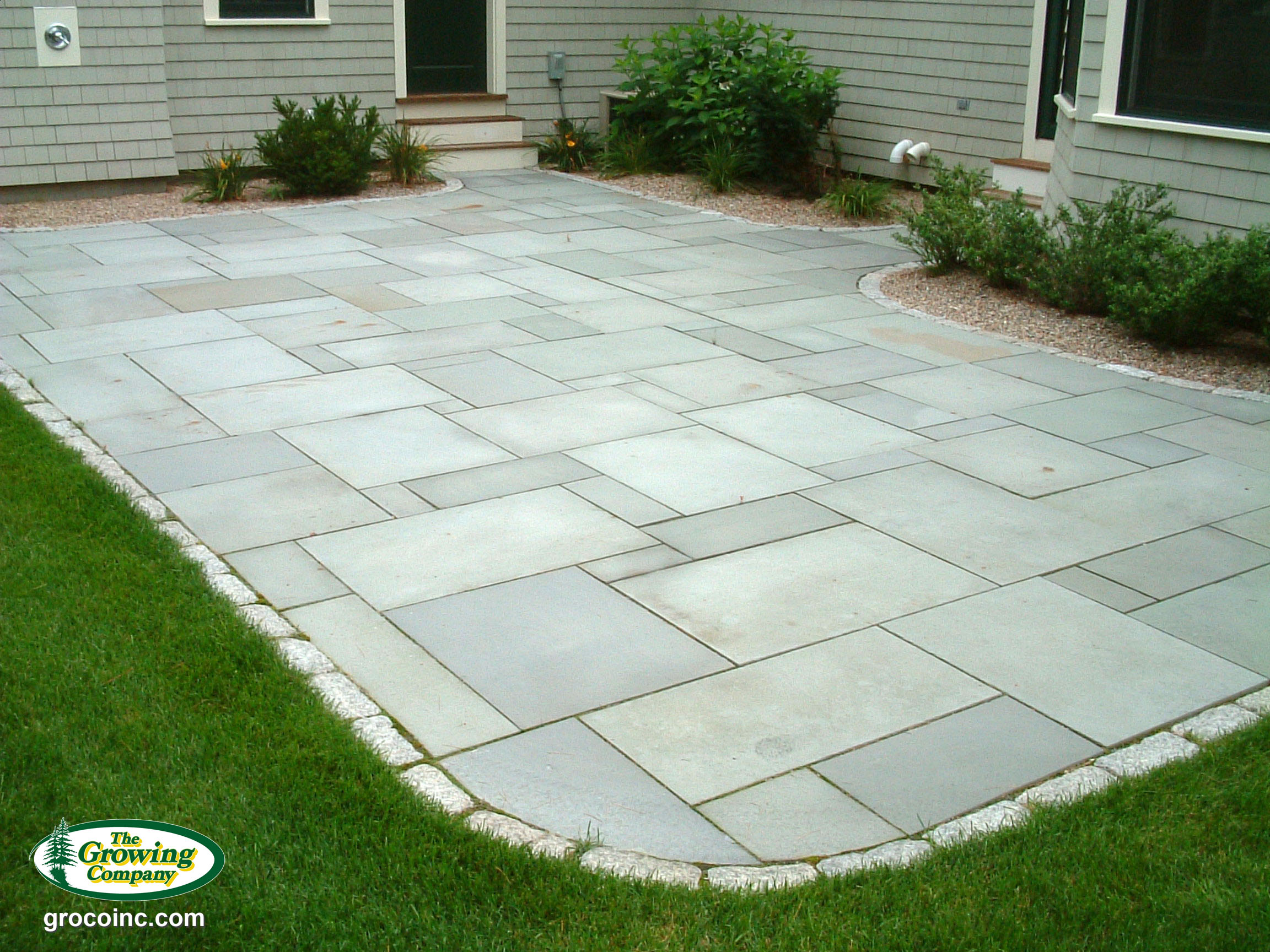 Stone patio cost per sq ft for Bluestone pricing