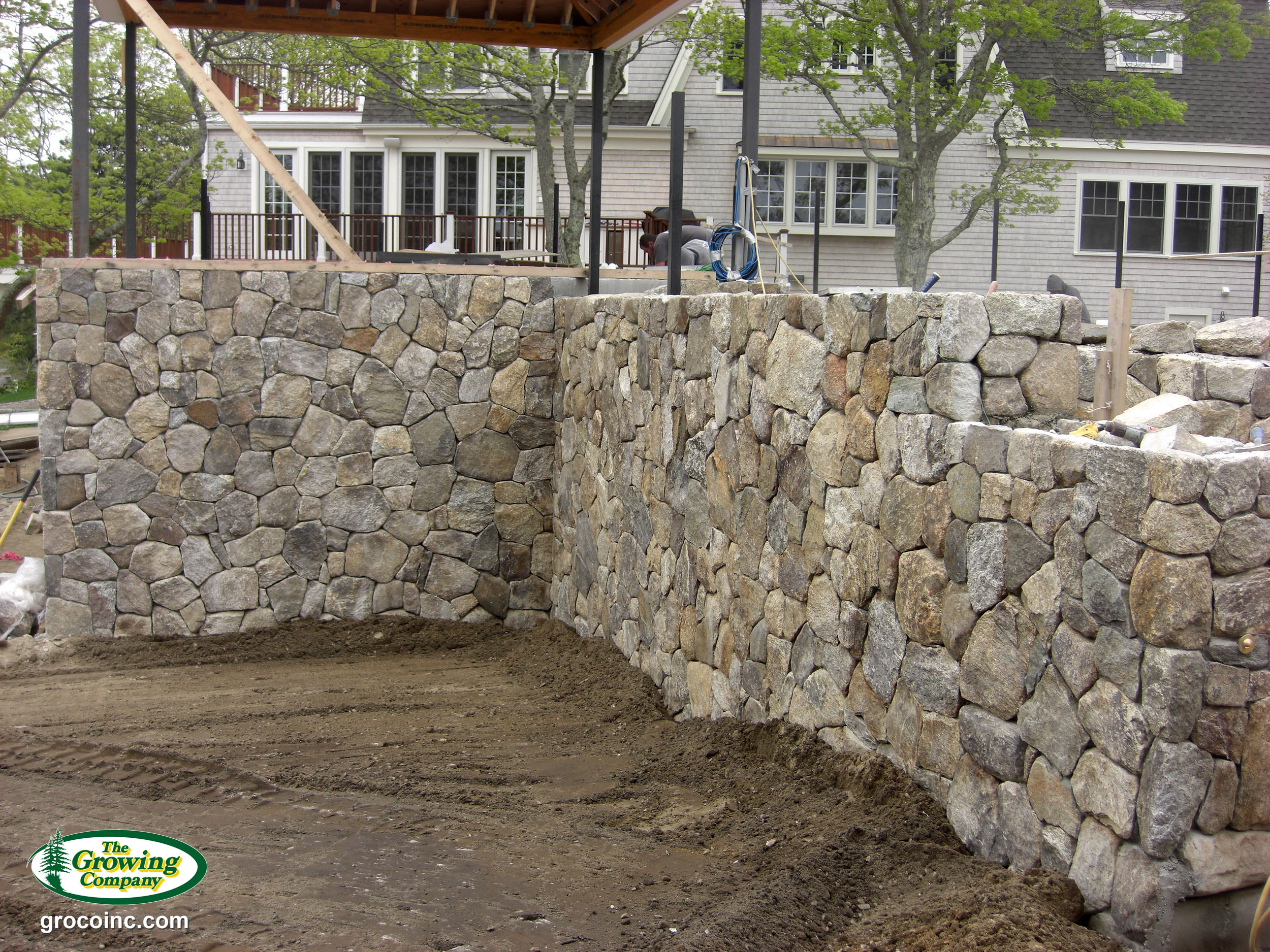 Stone walls walkways for cotuit osterville chatham for Landscaping rocks new orleans